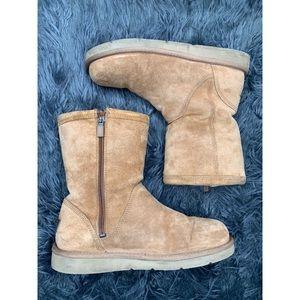 Ugg Hard sole chestnut suede boots EUC 8